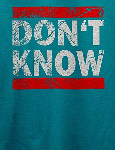 Dont Know Vintage T-Shirt Türkis