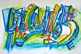 Farbenfrohes Großformat ★ Summer Baby! ★ Gute Laune Acrylbild von Etelka Kovacs-Koller