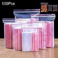 PerGrate perg Transferencia 100pcs Transparente Bolsa de Sellado 0.12mm congelado Zip con Cremallera resellable plástico Grosor, Tamaño 10 * 15cm