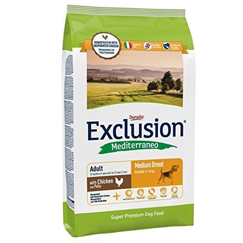 Exclusion Dog Medium Breed Pollo 12,5Kg - Alimenti Secchi Monoproteici per Cani