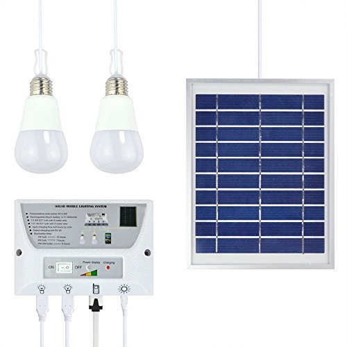 Portable Solar Power Panel (Ferryman Portable Solar Mobile Beleuchtung System Handy Home Notleuchten & Power Bank für Indoor Outdoor Aktivitäten)