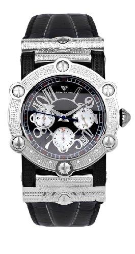 Nuevo. Aqua Master hombres de dos tonos redondo 20-diamond reloj