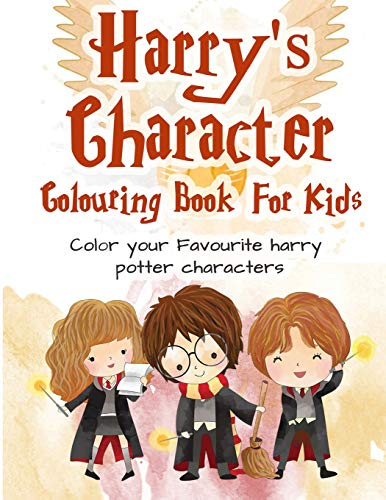 Harry's Character Colouring Book: Color Your Favorite Harry's Characters | 25+ Magical Illustrations Amazing Harry's Characters Coloring Books for Adults and Kids (Unofficial)