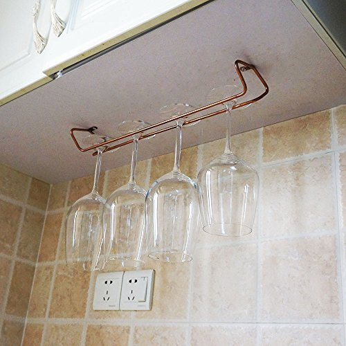 peoniee Stemware accesorio de vino Vintage de cristal para colgar en armario soporte con tornillos bronce cromado Bar cocina hogar decoración moderna