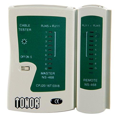 Tonor Tester Lan Network Ethernet Cavo di Rete LED Multifunzionale RJ45 RJ11 RJ12 CAT5 CAT 6 UTP