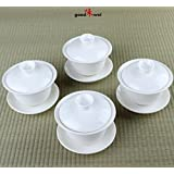 Gaiwan traditionnelle chinoise, porcelaine (4)