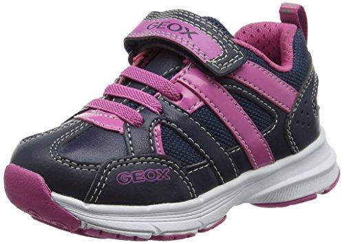 Geox Mädchen J Top Fly Girl A Sneaker, Blau (Navy/Fuchsia), 29 EU
