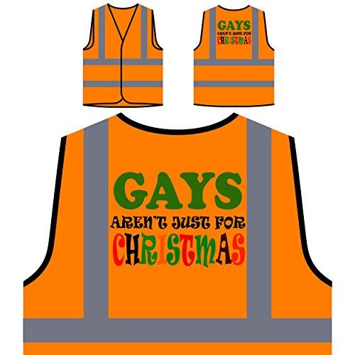 Preisvergleich Produktbild Homosexuelle sind nicht nur für Weihnachten lustig Personalisierte High Visibility Orange Sicherheitsjacke Weste t56vo