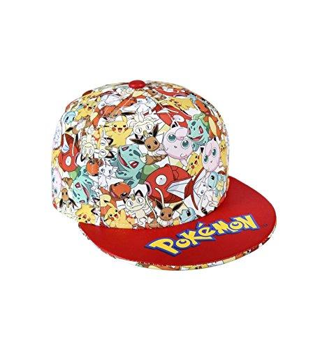 Les Pokemon - Gorro - para niño Blanco/Rojo Talla única