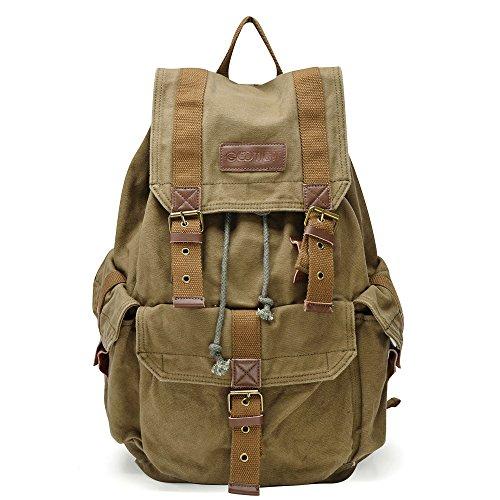 Imagen de gootium bolso de lona vintage,  casual clásica unisex, militar verde