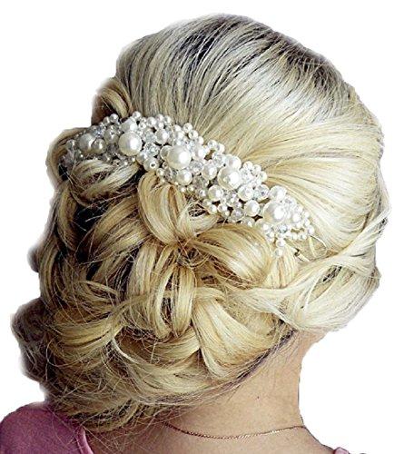 Tiara Diadem Perlen Perlenschmuck Blumen Krone Krönchen Strass Haarschmuck Stirnschmuck Blüten Braut Hochzeit