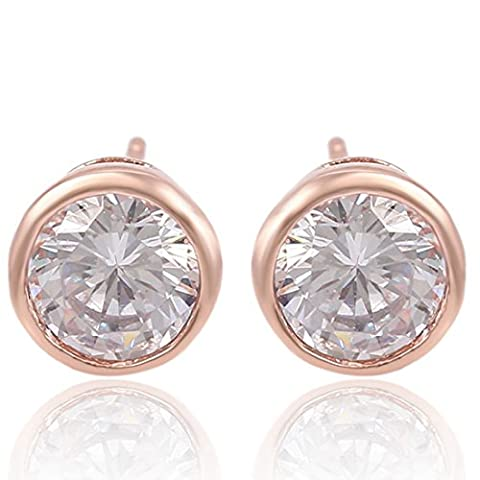 Juvel-Jewelry 18K Gold Plated Earrings Stud Head Light Style For Wedding Anniversary
