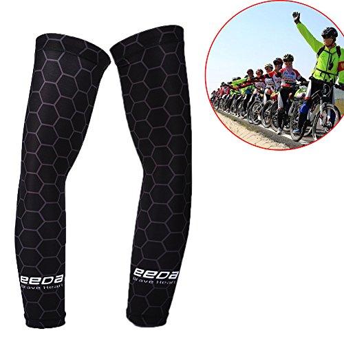 Armlinge Fahrrad Bike Wear Running Wear Arm Sleeve Anti-UV mit Polyester und Nylon für Sport Unisex Elastic Schwarz A M