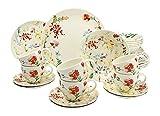Creatable 19721Serie Spring Floral, Vajilla, Porcelana, 40x 32,5x 32,5cm, 30Unidades