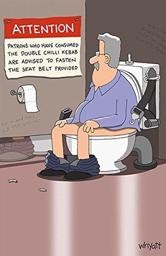 Traces of nuts Mann auf WC-Rude Lustige Geburtstagskarte