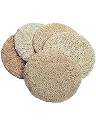Croll & Denecke Lot de 5 pads ronds en luffa pour peeling