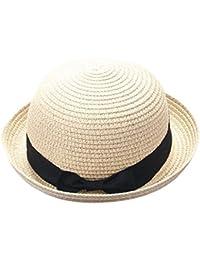 QUICKLYLY Familia Sombrero Paja Canotier Pescador Respirable de Protectora  del Sol Playa Sombrero Primavera Venaro para 874bb8ca7e36