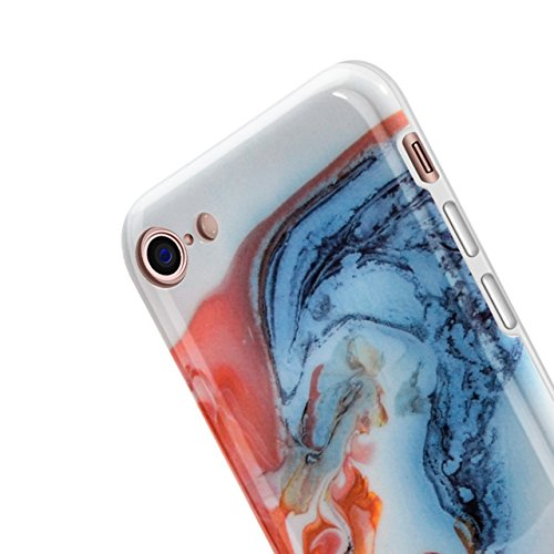 iPhone 6 Hülle, iPhone 6S Marmor Hülle, Vandot TPU Silikon Weich Marble Schutzhülle für iPhone 6 6S Protective Handy Case Cover[Non Slip, Ultra Thin Slim] Lila Glänzend Soft Handyhülle Schutz Handy Hü Muster 6