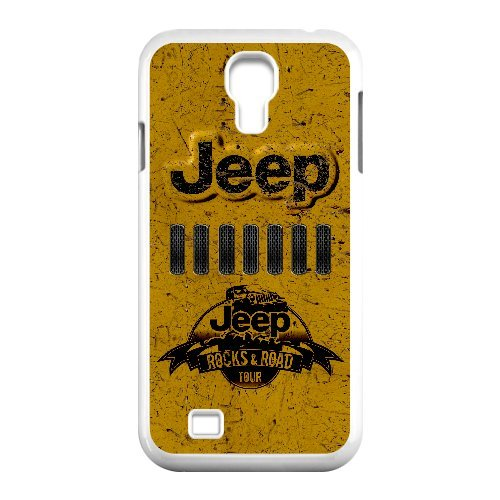 Samsung Galaxy S4 I9500 white Phone Case Top Design Jeep Wrangler Logo JP299020