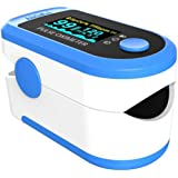 Smart SaverSky Blue Digital Finger Pulse Oximeter - Blood Oxygen Saturation Monitor - SPO2 Pulse Oximeter - Portable Oxygen Oxymeter Sensor