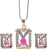 Rays Copper Jewel Set (White)