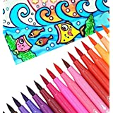 gold leaf colour brush pens set of 12 colours fun painting without mess- Multi color