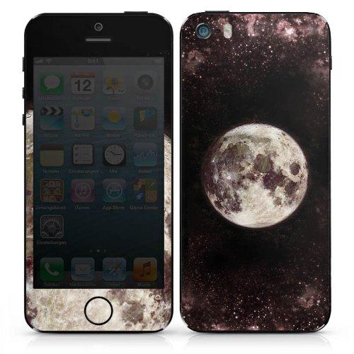 Apple iPhone 3Gs Case Skin Sticker aus Vinyl-Folie Aufkleber Mond Moon Universum DesignSkins® glänzend