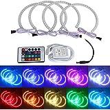 AMBOTHER Angel Eyes RGB Halo Anneau LED Multicolores avec Télécommande sans Fil pour BMW E36 E38 E39 E46 M3