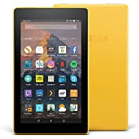 """Fire 7 Tablet with Alexa, 7"""" Display, 8 GB, Canary Yellow — with Special Offers"""