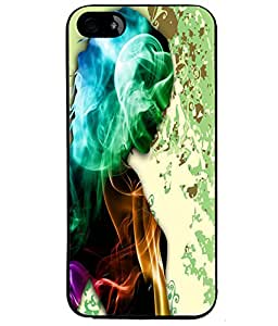 Fuson Smoky Girl Back Case Cover for APPLE IPHONE 5 - D4107