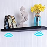 COSTWAY Wandboard mit integrierten Bluetooth-Lautsprechern Stereo Speaker Shelf audio Musikregal