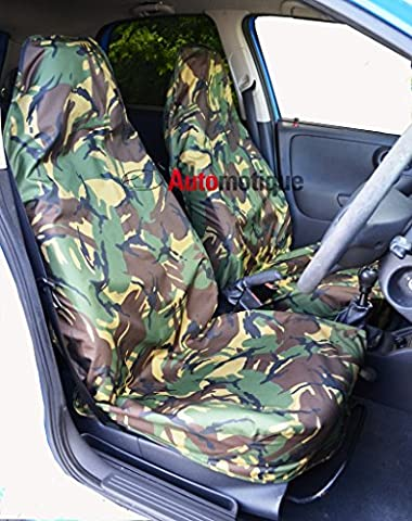 DAF XF TRUCK 2 PIECE CAMO WATERPROOF SEAT COVERS DPM