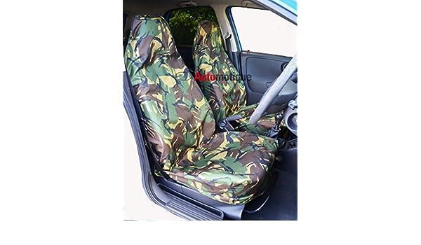 CAMOUFLAGE FRONT PAIR CAR SEAT COVER SET CAMO CITROEN BERLINGO VAN 02-08