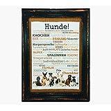 Hunde! Druck Poster A4 Geschenk