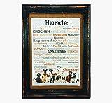 Hunde! Druck Poster A4 Geschenk AnneSvea Typo Deko Dogs Labrador Bulldogge Golden Retriever