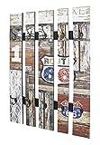 Haku-Möbel 32850 Wandgarderobe, Stahl, vintage, 9 x 65 x 100 cm