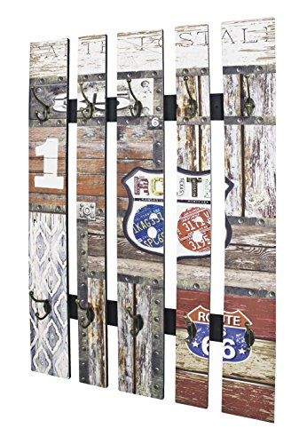 Haku-Möbel Wandgarderobe Stahl Vintage 9 x 65 x 100 cm