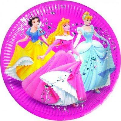 8-teiliges Teller-Set * PRINCESS MAGIC * für Disney-Kindergeburtstag // Kinder Geburtstag Party Mottoparty Pappteller Partyteller Plates Mädchen Prinzessin