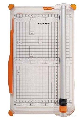 Fiskars Große Papierschneidemaschine, A4, Mit Schnittlinienführung, Inklusive Falzklinge & Schneideklinge, SureCut Plus, 1020504 (Große Trimmer)