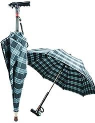 GUO Paraguas multifuncional MP3 bastón palillo paraguas inteligente de doble stick sartén deslizamiento iluminados