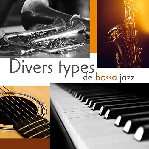 Divers types de bossa jazz: Mélange de musique de saxophone, trompette, guitare, piano