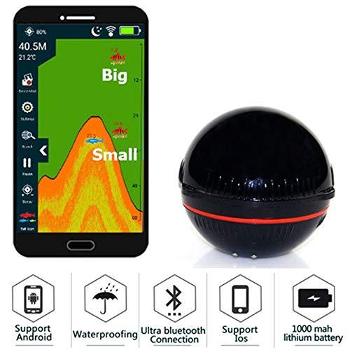 Smart Portable Depth Fish Finder, für Seensee Fishing Saltwater mit 100 M Wireless Sonar Sensor Echo Sounder Fishfinder Portable Angeln Gps