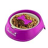 Mystery Plastic Dog Bowl Alimentateur lent pour petits chiens, non toxique Anti Gulp Bowl Puzzle Alimentateur Prévention de l'étouffement