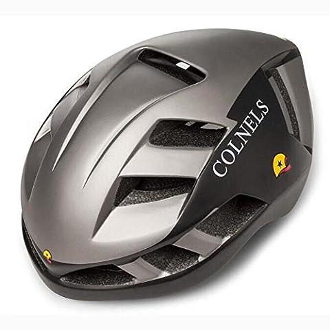 HuanLeBao Bunte neue Fahrradhelm Professionelle Qualität Sonnenschutz Sicherheitshelme Fahrradzubehör , black silver