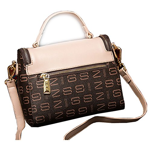 Oruil, Borsa a mano donna, Brown and Pink (Marrone) - Tw08 Brown and Pink