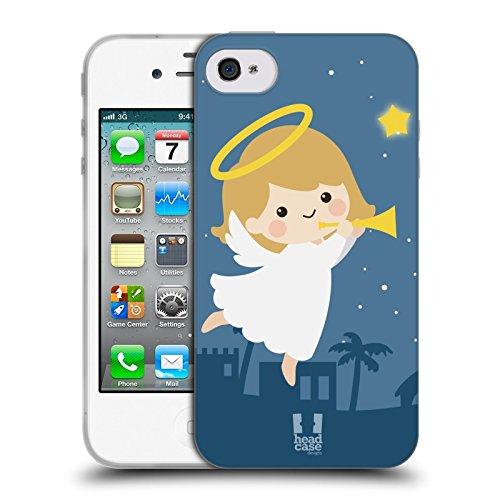 Head Case Designs Angelo Cartoni Di Un Felice Natale Cover Morbida In Gel Per Apple iPhone 6 / 6s Angelo