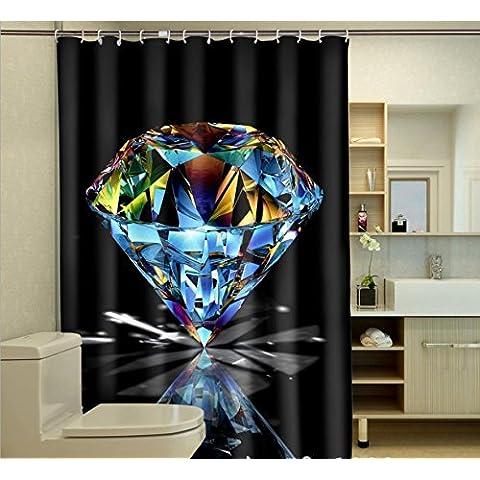 WHYGAO@ Cortinas de ducha de baño impermeable grabado diamante 3D , 1 , 180*180cm