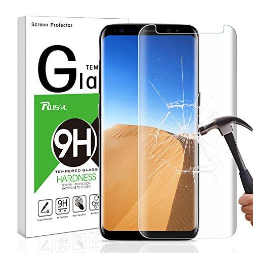 Preisvergleich Produktbild Galaxy S8 Plus Panzerglas Schutzfolie,  Rusee Displayschutzfolie Panzerfolie Displayschutz Gehärtetem Glass für Samsung Galaxy S8+ Plus 9H Härtegrad,  Anti-Kratzen,  Anti-Bläschen,  Anti-Fingerabdruck