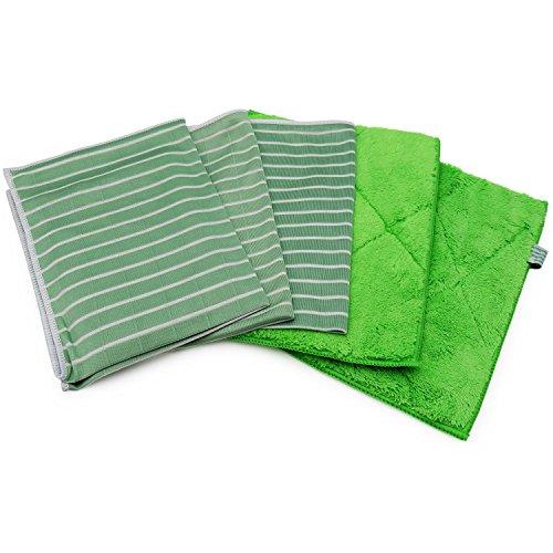 awiwa Vorreinigungstücher & Universal Küchentücher aus Bambus und Mikrofaser (25x20 cm & 48x26 cm)