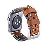 MroTech Armband für Apple Watch, Leder Armband Vintage Uhrenarmband für Apple Watch Sport/Edition...